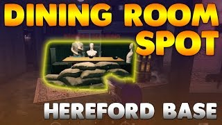 How to get under the blocked table in the Dining Room on Hereford Base, this spot is insanely useful if you play Caveria but can also be good for defending the room it's secure area, If you enjoyed the video please leave a like!► Subscribe for more: http://bit.ly/2aGVfde► Music: https://www.youtube.com/user/NoCopyrightSoundsThanks to C10ud_Kid for helping me with this spot!Credit: MI GameTvRainbow six siege, glitch, glitches, bugs, how to get out of map, how to glitch, rainbow six glitches, siege glitches, siege glitch, rainbow six wall breach, rainbow six hiding spot, rainbow six siege hiding, rainbow six siege spot, rainbow six spot.