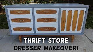 Trashy Thrift Store Dresser Makeover!