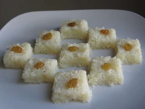 Coconut burfi recipe ( Indian dessert )