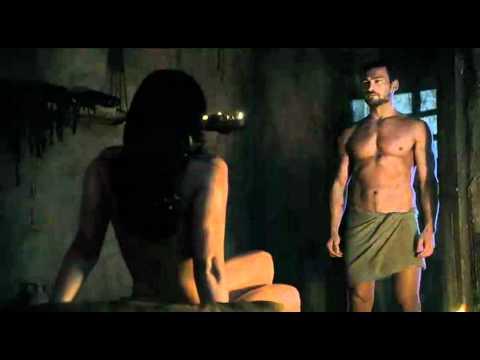 Spartacus Ep9 #1 - Scena sesso Lucrezia con Batiato e Mira con Spartacus