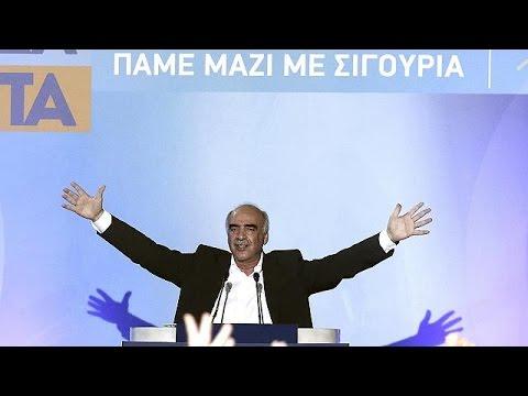 Ελλάδα: Ομιλία Μεϊμαράκη στη Ρηγίλλης παρουσία Καραμανλή, Σαμαρά