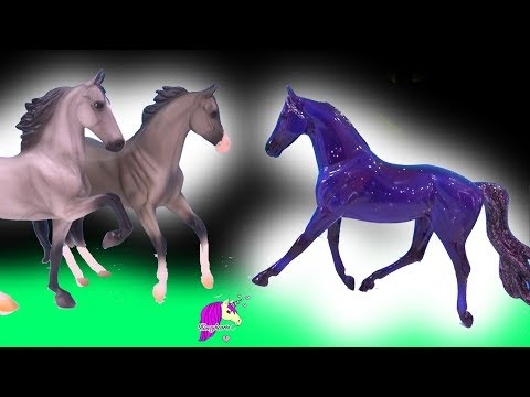 Falling Star Horse ! Breyer Classic Play Video by Honey Hearts C (видео)