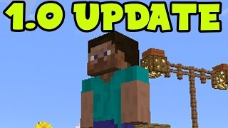 "MCPE 1.0 Update  - Minecraft Pocket Edition 1.0 Update Gameplay! ""NEW WORLD"" (MCPE 1.0)"
