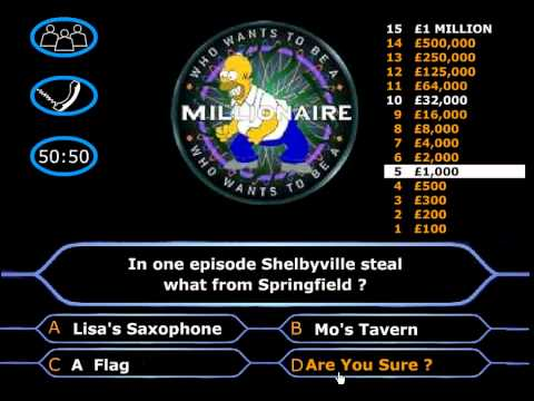 [Flash Game] Simpsons Millionaer Lösung