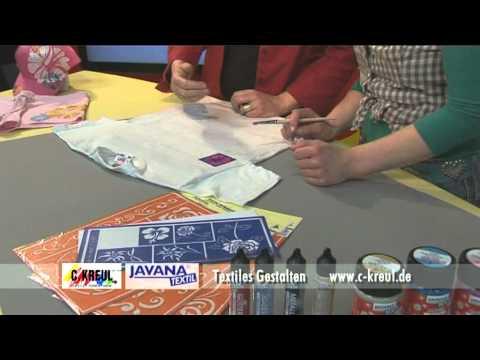 Bastelzeit TV 3 - Textiles Gestalten mit Textilfarben