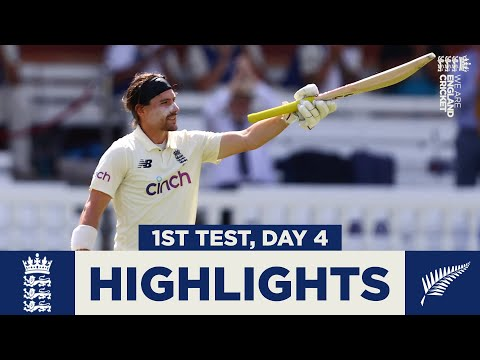 England v New Zealand Day 4 Highlights | Burns Hits Ton After Southee Burst | 1st LV= Insurance Test