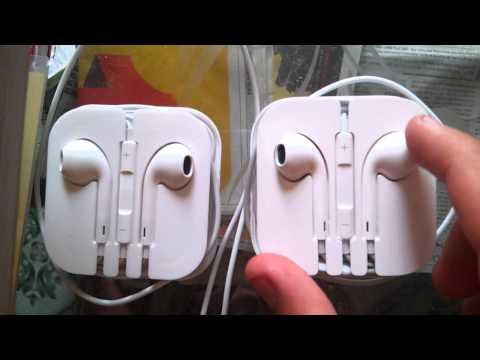 Phân biệt tai nghe Iphone 5 chính hãng và Fake đơn giản