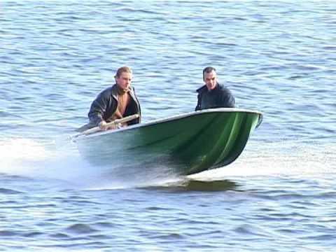 тест пластиковой лодки тримаран 360 под ямаха-8
