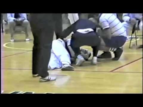Joe Rogan wins by spinning back kick KO in Tae Kwon Do fight