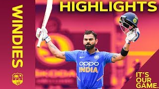Magnificent Virat Kohli Hits Brilliant Century | Windies vs India 2nd ODI 2019 - Highlights