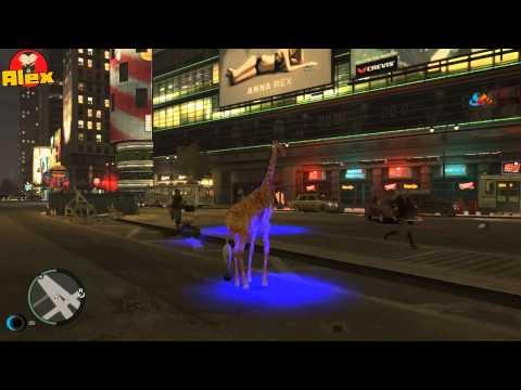 GTA IV Жираф с телекинезом! Веселье продолжается... by superalexworld