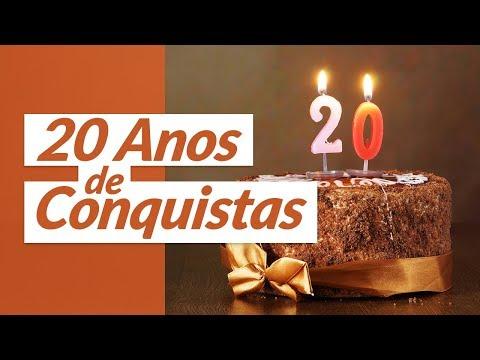 Msg de aniversário - 20 Anos de Conquistas (Mensagem de Aniversário de Casamento)