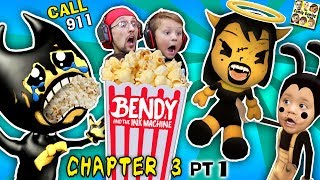 BENDY'S CHOKING on POPCORN! CALL 911 BENDY & THE INK MACHINE CHAPTER 3 #1(FGTEEV SCARY MICKEY MOUSE)