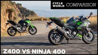 9. Kawasaki Z400 ABS vs. Ninja 400 ABS