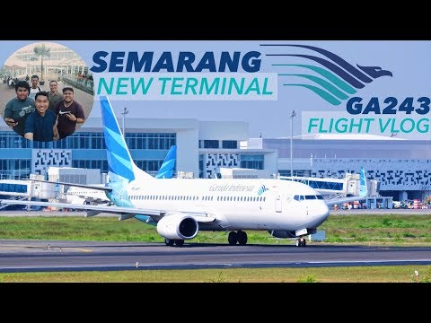 Flight VLOG Garuda Indonesia GA243 & NEW Terminal Achmad Yani (SRG) - NO BGM & NO VO!