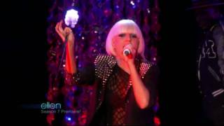 Lady GaGa - LoveGame (Ellen Disco Stick Intro + Musical Performance)