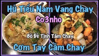 Ăn Hủ Tiếu Nam Vang chay và Cơm Tay Cầm Chay - cuộc sống ở Mỹ Co3nho Mong được mọi người ủng hộ và đăng ký...