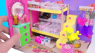 DIY Miniature Dollhouse Bedroom with a Bunk Bed (not a kit)