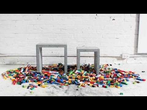 Riempie Dei LEGO Con Del Cemento. Quello Che Crea E' Un Oggetto Di Design Bellissimo