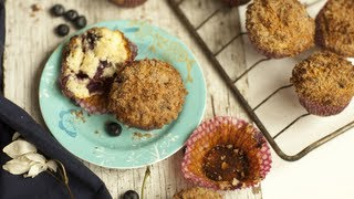Délicieux muffins aux myrtilles et à la cannelle