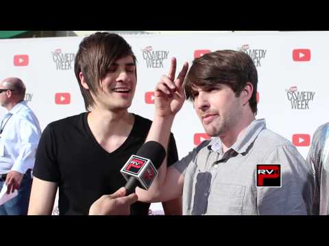 It's @Smosh at the Big Comedy Week Big Live Event Red Carpet inteview w/ @christrondsen