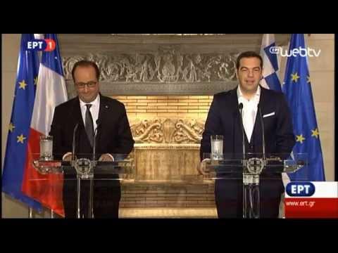 Κοινή Συνέντευξη Τύπου του Πρωθυπουργού με τον Πρόεδρο της Γαλλικής Δημοκρατίας Φρανσουά Ολάντ