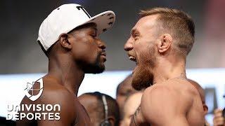 Video McGregor vivió su primera ceremonia de pesaje como boxeador para enfrentar a Mayweather MP3, 3GP, MP4, WEBM, AVI, FLV Februari 2019