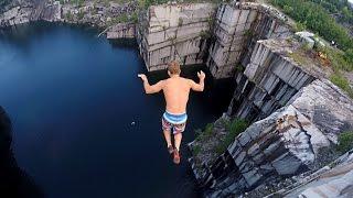Video Cliff Jumping in Vermont 110 feet MP3, 3GP, MP4, WEBM, AVI, FLV Oktober 2017