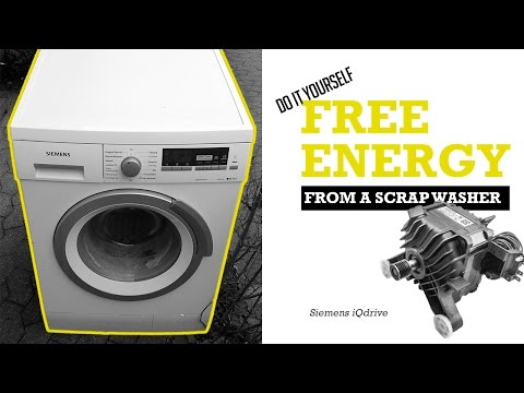 Video How to get FREE ENERGY from neighbors scrap washing machine  - Siemens iQdrive download in MP3, 3GP, MP4, WEBM, AVI, FLV January 2017