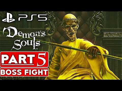 DEMON'S SOULS REMAKE Gameplay Walkthrough Part 5 BOSS FIGHT [60FPS PS5] - No Commentary (FULL GAME)