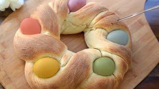 How to Make Plaited Easter Egg Bread
