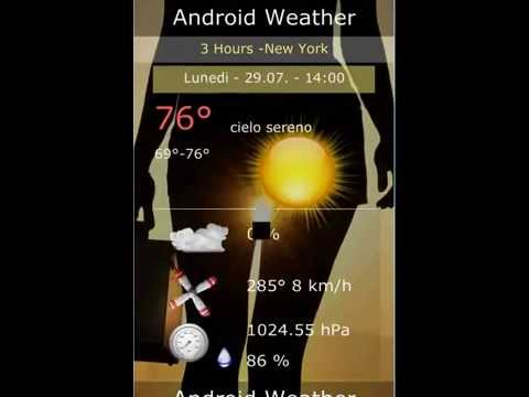 Video of Android Weather - 14 Days