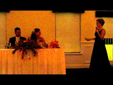 Best Maid of Honor Speech EVER!!! Baby Got Back!!