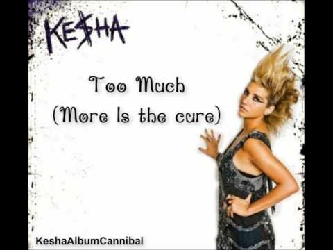 Kesha - Too Much (More Is The Cure) lyrics