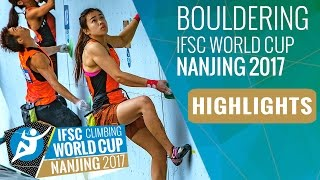 IFSC Climbing World Cup Nanjing 2017 - Bouldering Highlights by International Federation of Sport Climbing