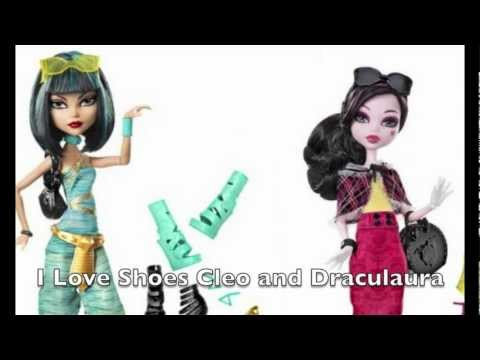 I Love Shoes Cleo and Draculaura! *Monster High Mattel Official!*