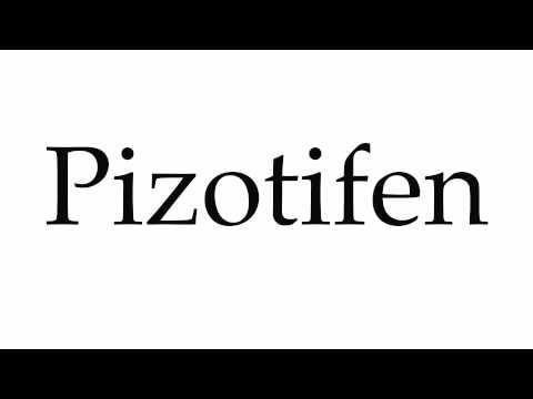 How to Pronounce Pizotifen