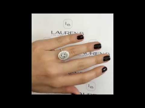 2.40 ct Oval Diamond Double Halo Ring