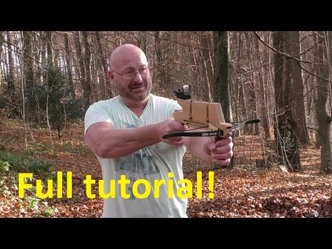 How To Make+Shoot The Pump Action Repeating Crossbow Pistol