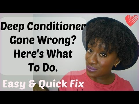 Natural Hair Tips: What To Do With a Deep Conditioner Gone Wrong (4c Hair)