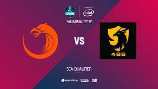 TNC Predator vs  496 Gaming, ESL One Mumbai SEA Quals, bo5, game 1 [Lex & 4ce]