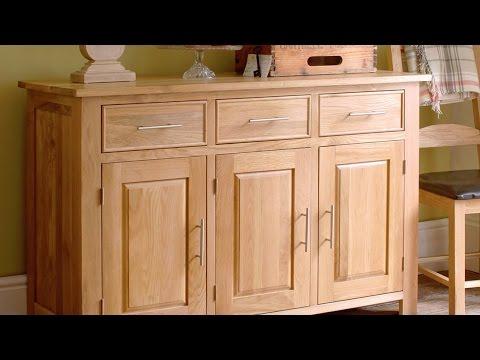 Rivermead Oak 3 Door Sideboard - PineSolutions