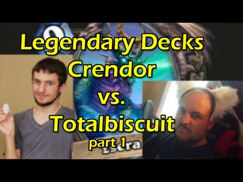 crendor - Crendor plays Totalbsicuit in a battle of legendary decks in Hearthstone Heroes of Warcraft ---wowcrendor links--- My Stream: http://twitch.tv/crendor Go Go ...