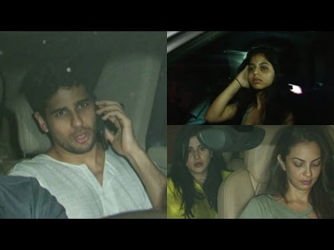 Siddharth Malhotra, Gauri Khan And Suhana Khan Spotted At Karan Johar House