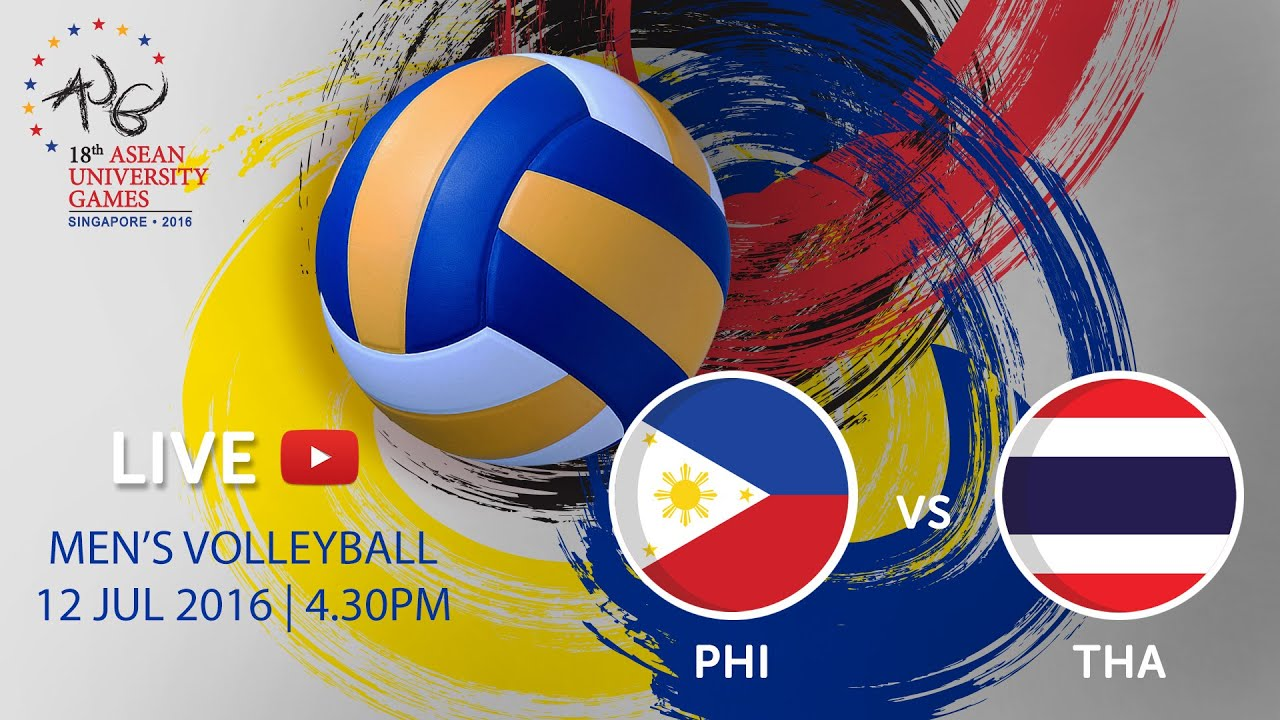 Volleyball Mens: Philippines v Thailand | 18th ASEAN University Games Singapore 2016