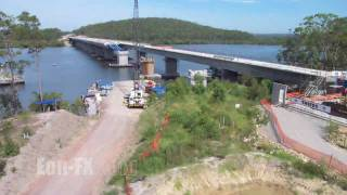 Karuah Australia  City new picture : Time-lapse of the Karuah bypass incrementally launched bridge construction
