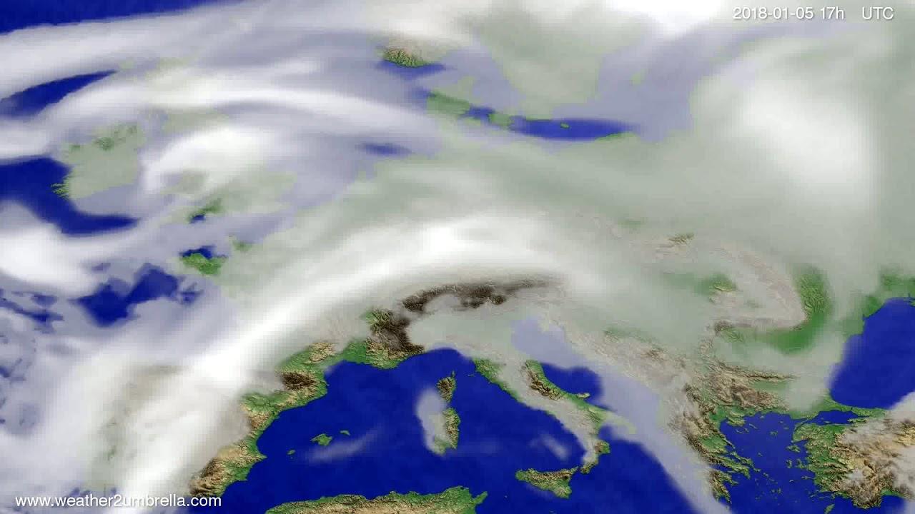 Cloud forecast Europe 2018-01-03
