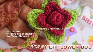 How to Croche- Simple DIY Flower Bud Leaf Stitch Tutorial for Beginners