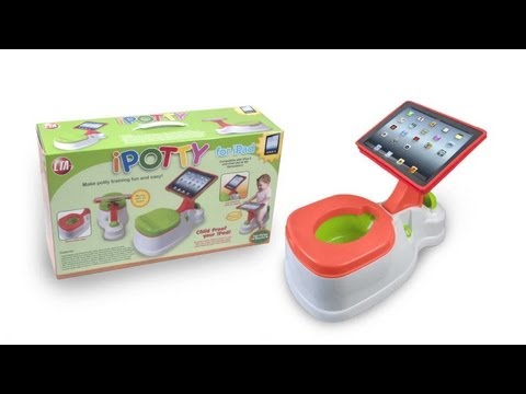 Yuck! The potty-training toy  that adds an iPad to its attractions  video