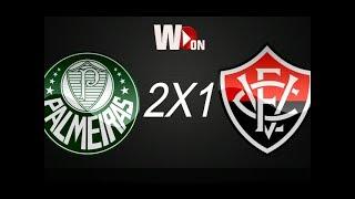Gols de palmeiras x vitória , jogo válido pela 14° rodada do brasileirão 2017. Palmeiras x vitória ao vivo hd